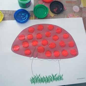 Пальчиковое рисование грибок