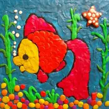 Картина из пластилина Подводный мир