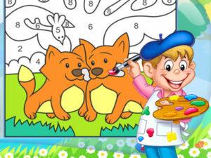 Раскраски по номерам для детей шаблоны
