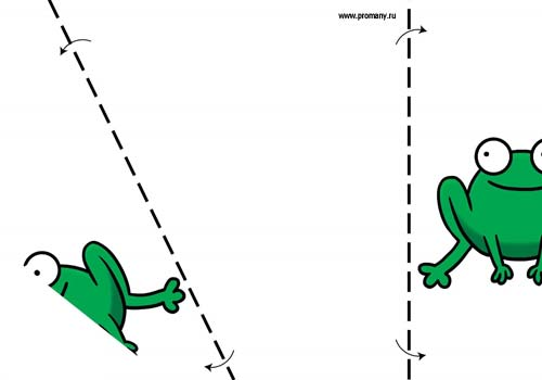 сгибалки оригами для малышей лягушка