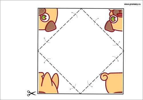 сгибалки оригами собака
