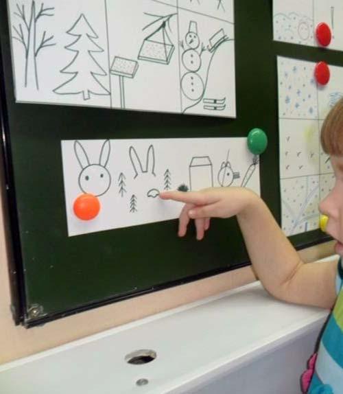 ребенок 4 года занимается по мнемодорожке