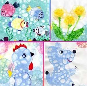 опыт для детей рисование мыльными пузырями