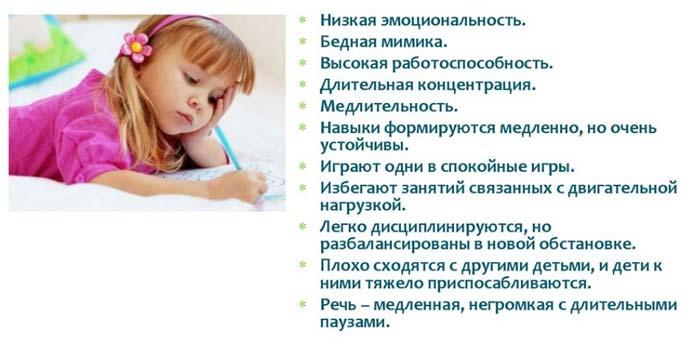 темперамент ребенка флегматик