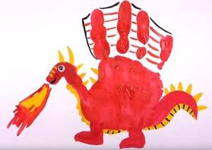 Рисуем детскими ладошками<br />