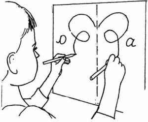 Рисование двумя руками одновременно
