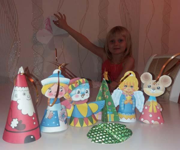 новогодние елочные игрушки из бумаги шаблоны своими руками