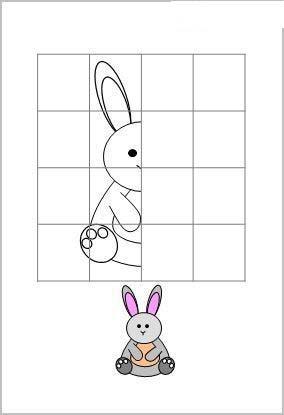заяц рисунок по клеточкам