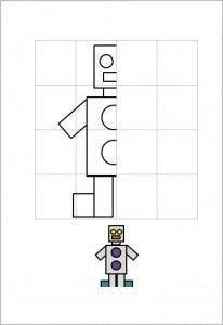 рисуем по клеточкам робот